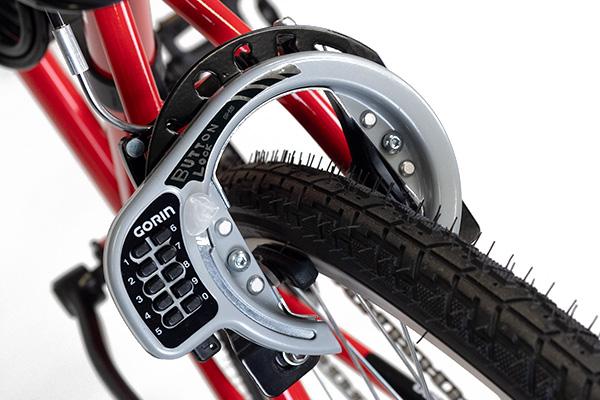 GORIN Vブレーキ用 ボタン式リング錠