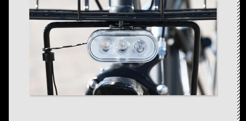 ブリヂストン(BRIDGESTONE)ステップクルーズ(STEPCRUZ)のLEDを3つ搭載した明るいライト