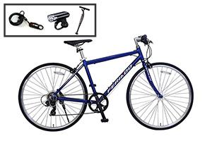 ブルー/クロスバイク入門セット/FERIADO(フェリアード) [外装7段変速][アルミフレーム]