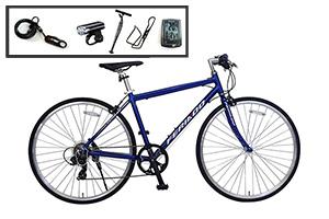 ブルー/クロスバイク入門ワイドセット/FERIADO(フェリアード) [外装7段変速][アルミフレーム]