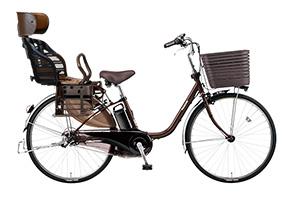 チョコブラウン/ヘッドレスト付きチャイルドシート搭載ビビ・DX -2019/2020モデル-[内装3段変速][24インチ][26インチ]