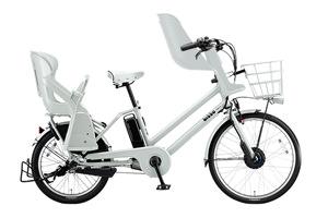 E.XBKホワイト/3人乗り用チャイルドシート付きbikke GRI[内装3段変速][クラス27キャリア][3人乗り対応]