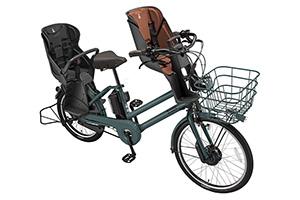 T.Xディープグリーン(2020モデル)/3人乗り用チャイルドシート付きbikke GRI dd