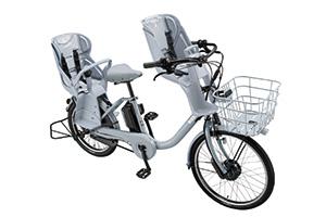 E.XBKブルーグレー/3人乗り用チャイルドシート付きbikke MOB dd -2019・2020モデル-[内装3段変速][20インチ][クラス27キャリア]