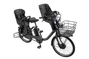 E.XBKダークグレー/3人乗り用チャイルドシート付きbikke MOB dd -2019・2020モデル-[内装3段変速][20インチ][クラス27キャリア]