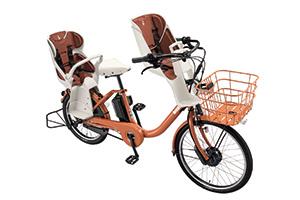 E.Xオークルオレンジ/3人乗り用チャイルドシート付きbikke MOB dd