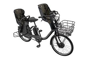 E.XBKダークグレー(2020モデル)/3人乗り用チャイルドシート付きbikke MOB dd