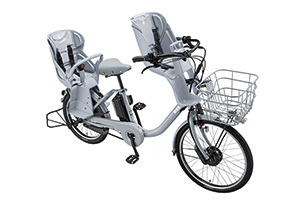 E.XBKブルーグレー(2020モデル)/3人乗り用チャイルドシート付きbikke MOB dd