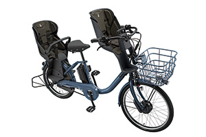 E.Xネイビーグレー(2020モデル)/3人乗り用チャイルドシート付きbikke MOB dd
