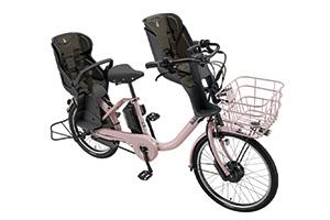 E.Xオールドローズ(2020モデル)/3人乗り用チャイルドシート付きbikke MOB dd