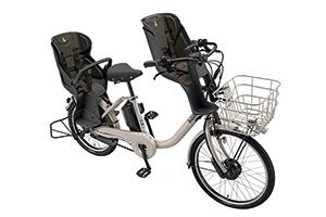 E.Xモルベージュ(2020モデル)/3人乗り用チャイルドシート付きbikke MOB dd