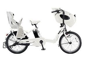 E.XBKホワイト(2018)/3人乗り用チャイルドシート付きbikke POLAR e -2019モデル-[内装3段変速][20インチ][3人乗り対応]