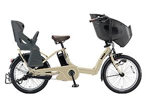 T.レトログレージュ(2018/3人乗り用チャイルドシート付きbikke POLAR e -2019モデル-[内装3段変速][20インチ][3人乗り対応]