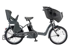 E.XBKダークグレー(2018)/3人乗り用チャイルドシート付きbikke POLAR e -2019モデル-[内装3段変速][20インチ][3人乗り対応]