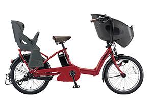 T.レトロレッド(2018)/3人乗り用チャイルドシート付きbikke POLAR e -2019モデル-[内装3段変速][20インチ][3人乗り対応]