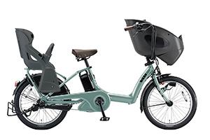 T.レトログリーン(2018)/3人乗り用チャイルドシート付きbikke POLAR e -2019モデル-[内装3段変速][20インチ][3人乗り対応]