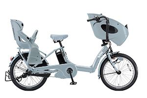 E.XBKブルーグレー(2018)/3人乗り用チャイルドシート付きbikke POLAR e -2019モデル-[内装3段変速][20インチ][3人乗り対応]
