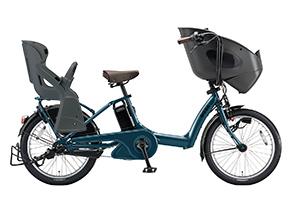 T.レトロブルー(2018)/3人乗り用チャイルドシート付きbikke POLAR e -2019モデル-[内装3段変速][20インチ][3人乗り対応]