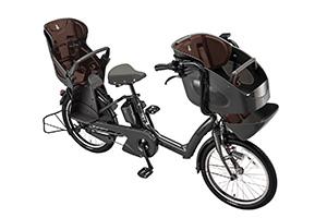E.BKダークグレー(2019早期)/3人乗り用チャイルドシート付きbikke POLAR e -2019モデル-[内装3段変速][20インチ][3人乗り対応]