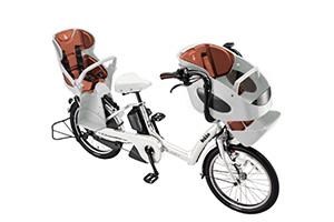 E.BKホワイト/3人乗り用チャイルドシート付きbikke POLAR e -2019モデル-[内装3段変速][20インチ][3人乗り対応]