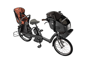 E.BKダークグレー/3人乗り用チャイルドシート付きbikke POLAR e -2019モデル-[内装3段変速][20インチ][3人乗り対応]