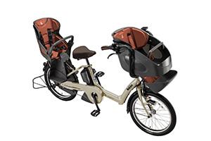 T.レトログレージュ/3人乗り用チャイルドシート付きbikke POLAR e -2019モデル-[内装3段変速][20インチ][3人乗り対応]