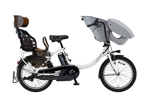 ピュアパールホワイト(2019モデル)/3人乗り用チャイルドシート付きPAS kiss mini un -2019モデル-[内装3段変速][20インチ]