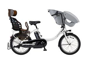ピュアパールホワイト/3人乗り用チャイルドシート付きPAS kiss mini un -2019モデル-[内装3段変速][20インチ]