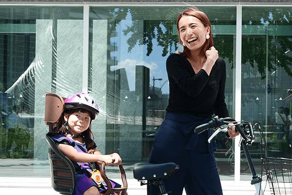 子供とのお出かけ用の電動自転車画像
